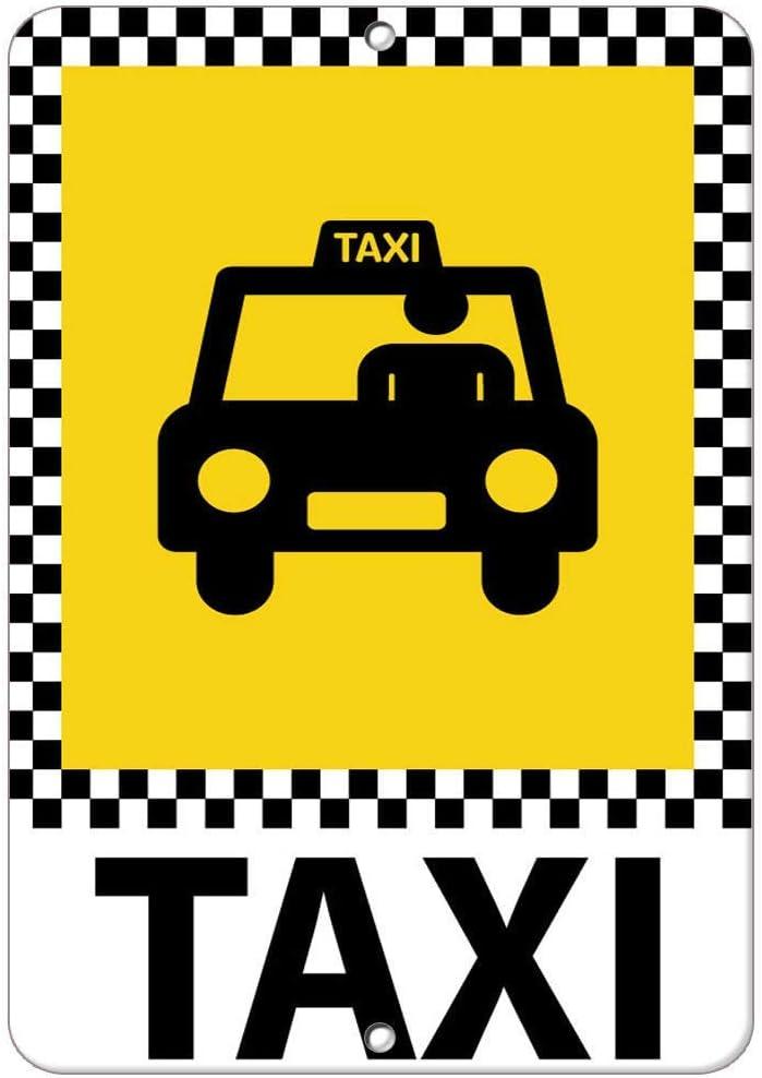 Taxi Parking Schild Aluminium Metallschild 20,3 x 30,5 cm