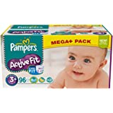 Pampers Active Fit T. 3+ Midi Plus (5-10 kg) Méga pack - 96 pièces