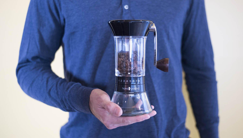 Handground Precision Coffee Grinder: Manual Ceramic Burr Mill - Black by Handground