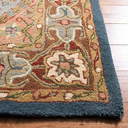 Superior Annalise Collection Area Rug, 8mm Pile Height with Jute Backing, Beautiful French Traditional Aubusson Rug Design, Fashionable and Affordable Woven Rugs – 5 x 8 Rug