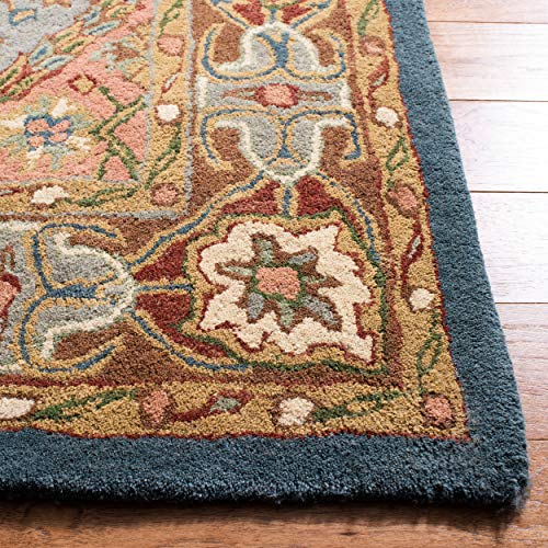 Safavieh Heritage Collection HG316B Handcrafted Traditional Oriental Green and Red Wool Area Rug 2 x 3