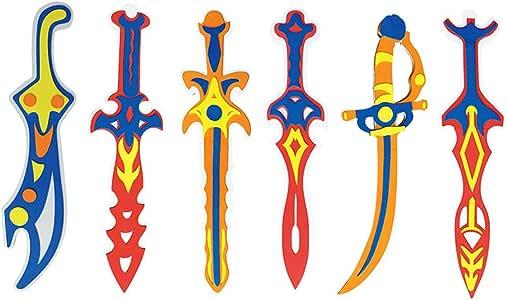 SimpleLife Espada Pirata, Accesorio de Espada de Pirata de Halloween para Accesorios de Disfraces Juguetes de Espuma Juguete para niños Juegos de imaginación para niños Regalo-1 Pieza: Amazon.es: Hogar