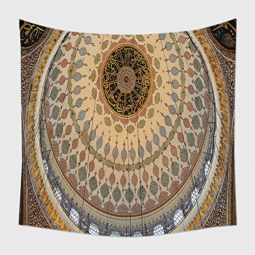 Home Decor Tapestry Wall Hanging Interior Of Yeni Cami Mosque In Istanbul 99899021 for Bedroom Living Room Dorm