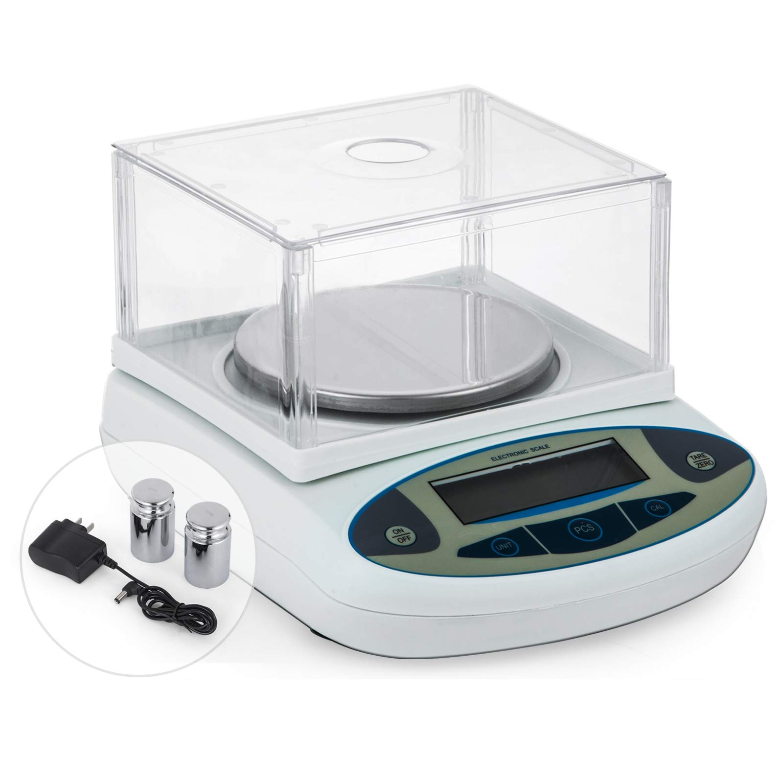 Happybuy Analytical Balance 2000g/0.01g High Precision Lab Digital Analytical Balance Jewelry Scale Jewelry Scales Kitchen Precision Weighing Electronic Scales with Wind Shield (2000g, 0.01g)