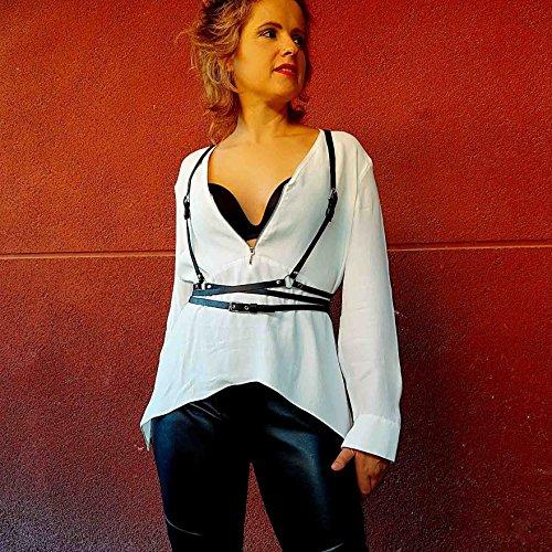 Arnés Shibuya cuero moda mujer, Shibuya harness leather: Amazon.es ...