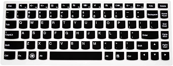 """PcProfessional Black Ultra Thin Silicone Gel Keyboard Cover for Lenovo Yoga 700 14"""" Laptop with Application Kit (Please Compare Keyboard Layout and Model)"""