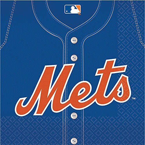 [MLB New York Mets Large Napkins (36ct)] (Halloween Decorations New York)