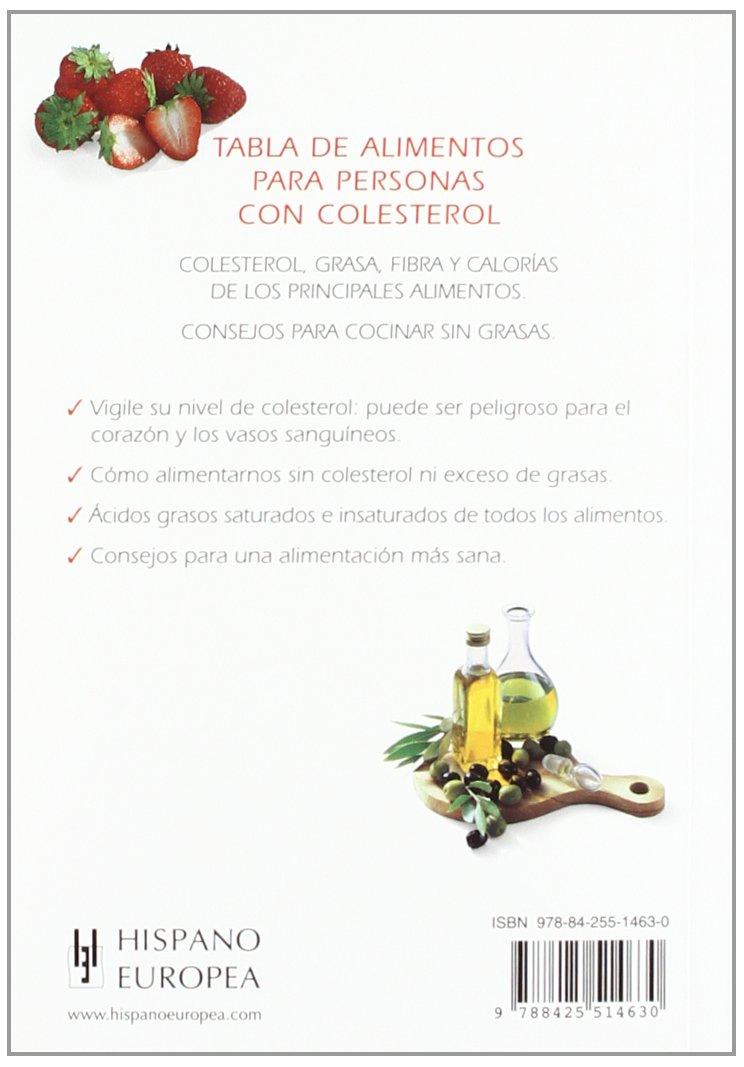 Tabla De Alimentos Para Personas Con Colesterol Tablas De Alimentos Spanish Edition Pospisil Edita 9788425514630 Books