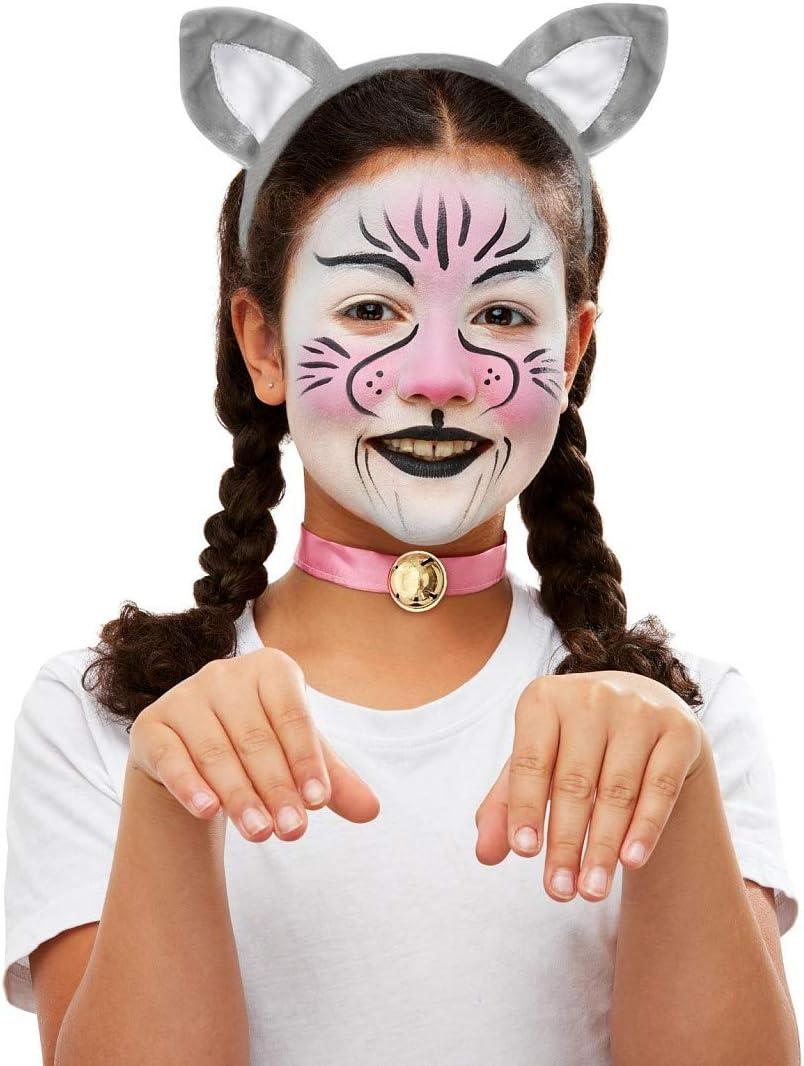 Amakando Encantador Set Disfraz gatita para niños / Make-Up ...