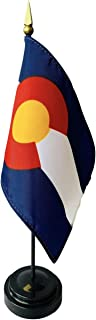 product image for 4x6 E-Gloss Colorado Stick Flag with Plastic Table Base - Qty 24