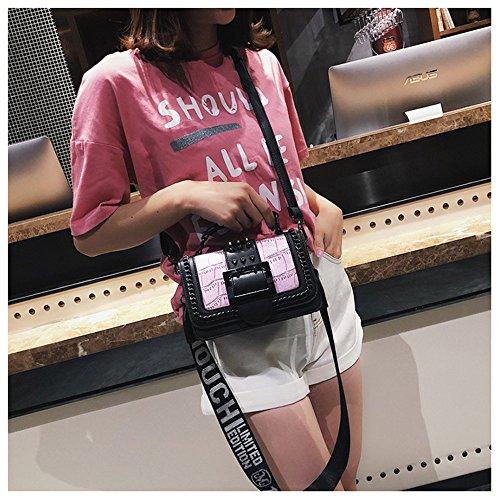 HCXIN Plateado Bolso plata mujer Rosa hombro para al fwpUqfzR