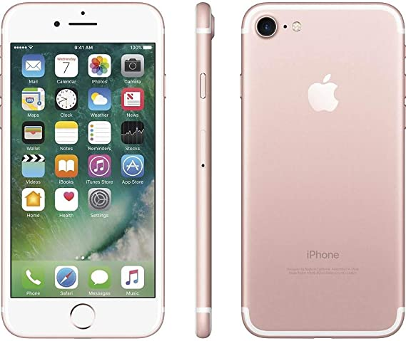 Amazon Com Apple Iphone 7 128gb Rose Gold For At T T Mobile Renewed