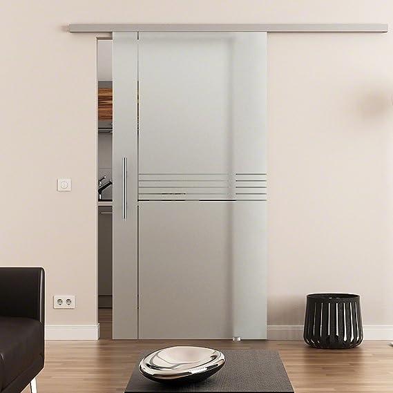 Dorint rayas de 1 puerta corredera de cristal templado de 8 mm 2175 X 900 MM Dorma Agile 50 – Herraje Barra Mango, Juego Completo para puerta y herraje: Amazon.es: Bricolaje y herramientas