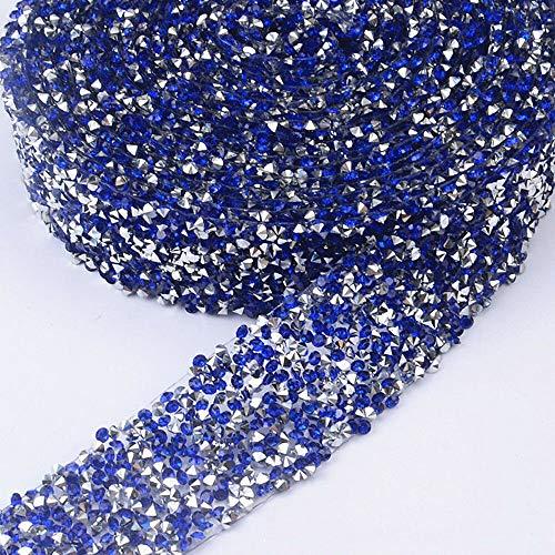 1X Crystal Rhinestone Mesh Belt Decal Embellishment Decor Bridesmaid Dress Belt (Color - Dark Blue)