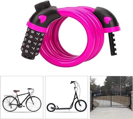 Candado Bici con Código de 5 Dígitos,Candado Bicicleta Alta ...