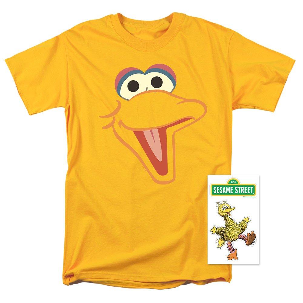 Sesame Street Big Bird Face T Shirt (Large)