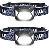 LED Headlamp Flashlights, Super Bright Head Lamps with Red Lights and 6 Modes, Compact and Lightweight, Perfect for Adults and Kids, Pack of 2, Batteries not included