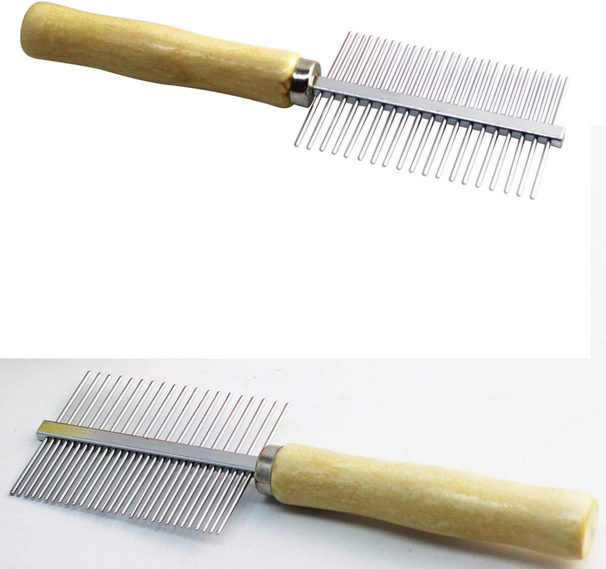 Pet Dog /& Cat Stainless Steel Grooming Comb Shedding Comb Trimmer Comb POPETPOP Pet Comb