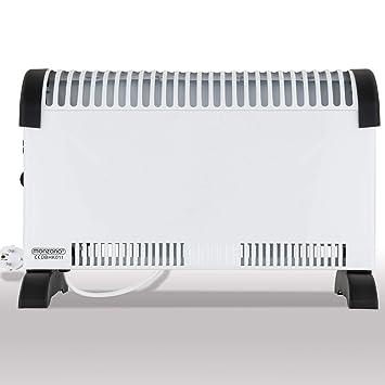 Calefactor Radiador con 3 niveles de calor - regulador de temperatura continuo - función de control antihielo - medidas: 49,5 x 10 x 33 cm: Amazon.es: ...