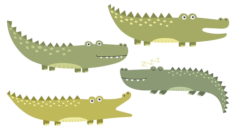 Wandtattoo Afrika Krokodile als Familie Wandsticker Dekoration Tiere