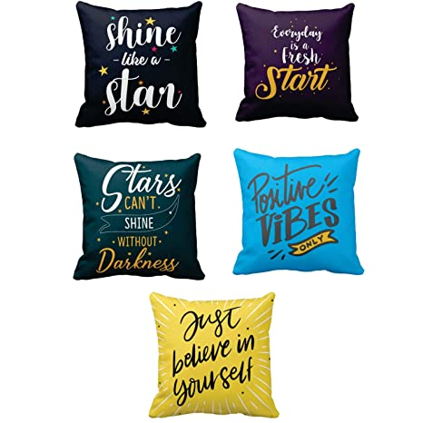 Buy Yaya Cafe Canvas Cotton Shine Like A Star Motivational Quotes