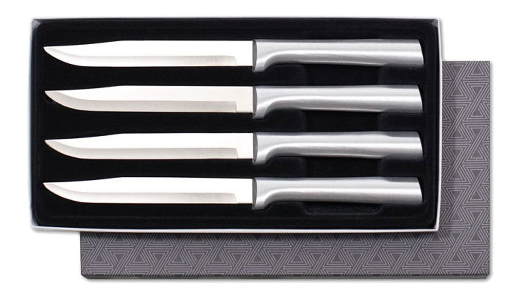 Rada Cutlery S55 4-Piece Utility Steak Knife Set, Aluminum Handles by Rada Cutlery