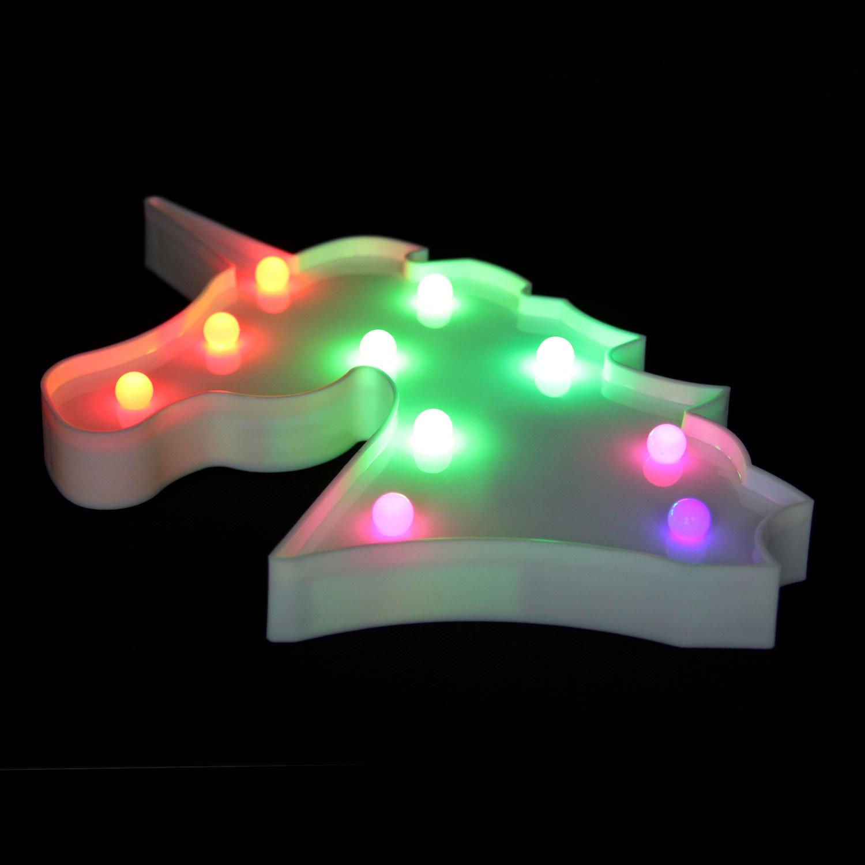 Amazon.com : OYE HOYE Unicorn LED Lights Night Light Night Lamp ...