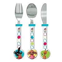 Bing, set di bicchiere, ciotola e piatto, multicolore