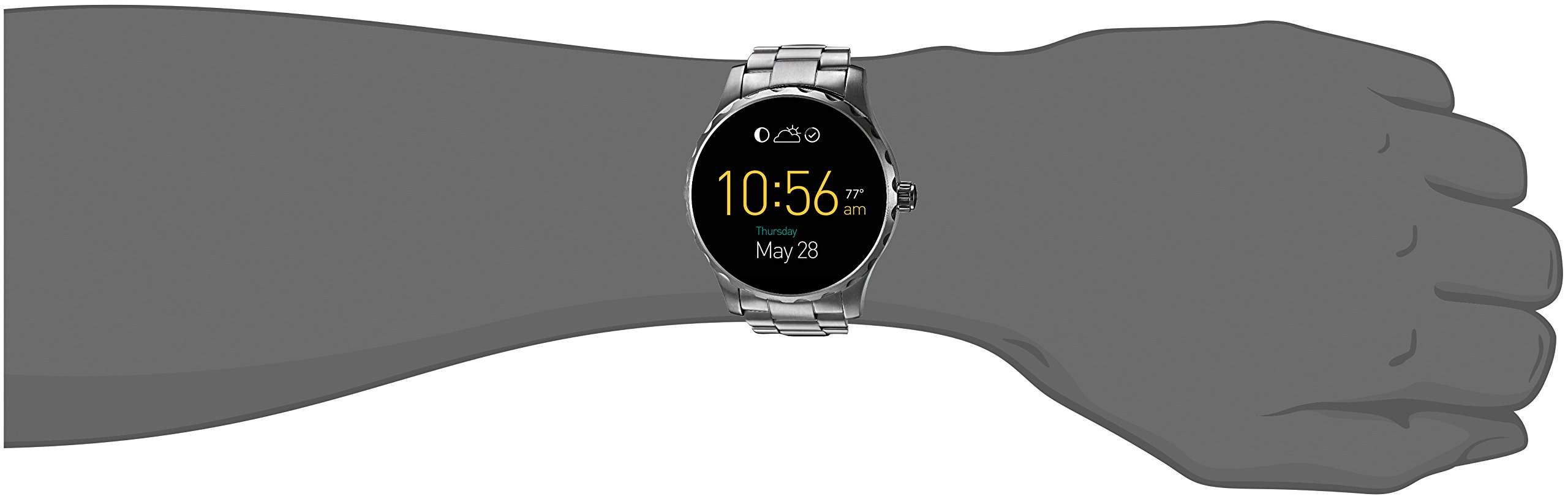 Fossil Q Marshal Gen 2 Stainless Steel Touchscreen Smartwatch FTW2109 by Fossil (Image #4)
