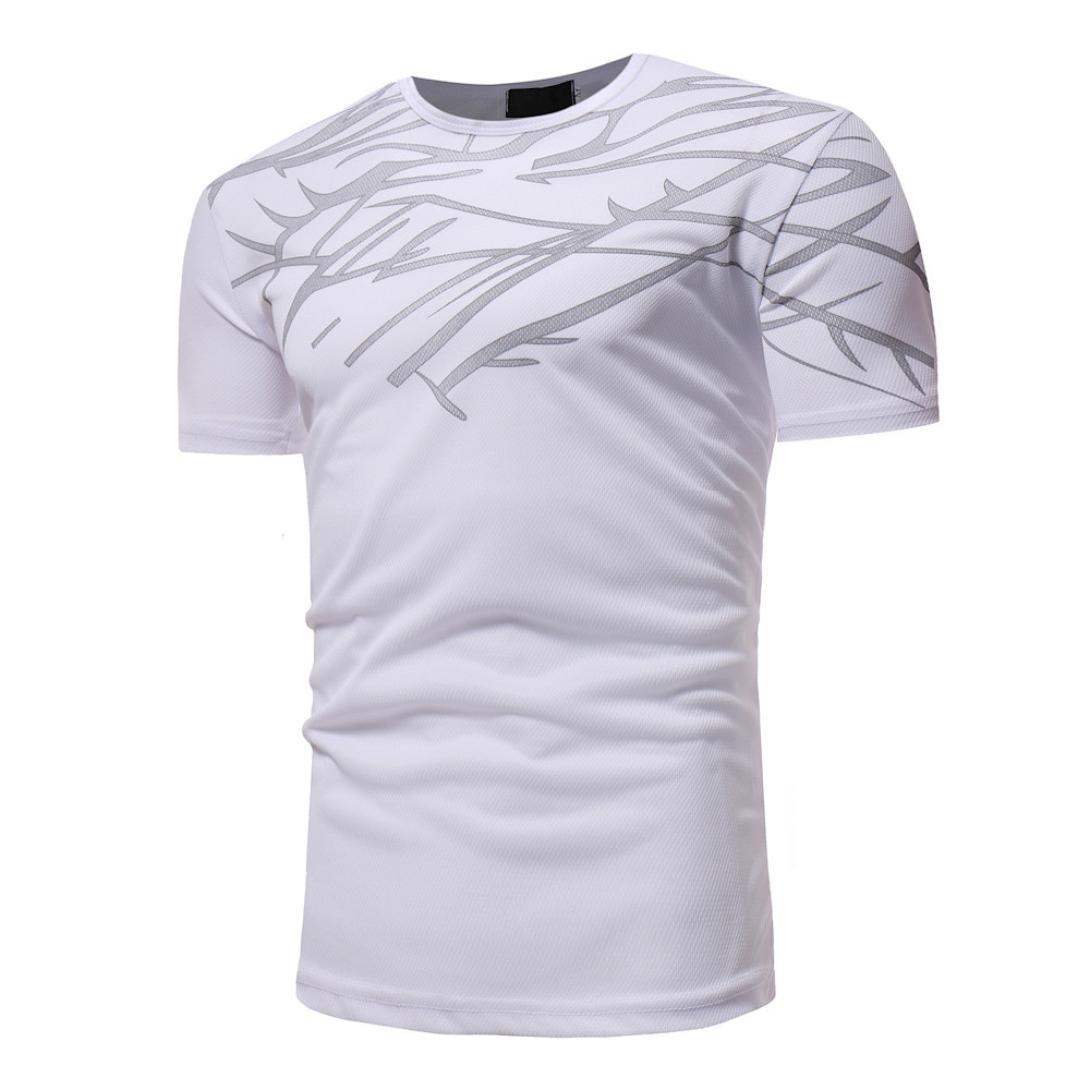 Beikoard Camiseta y Polos Basica, Color sólido Hombres Summer Top Casual Hombres Camiseta de Manga Corta Camisa de Impresion (Armada, XXXL): Amazon.es: Ropa ...