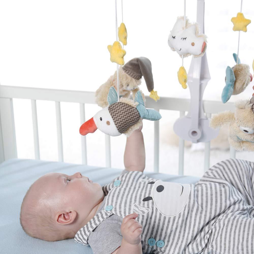 H/öhe: 65 cm Fehn 160741 Musik-Mobile Rainbow Zum Befestigen am Bett f/ür Babys von 0-5 Monaten /ø 40 cm Spieluhr-Mobile mit niedlichen Teddys zum Lauschen /& Staunen