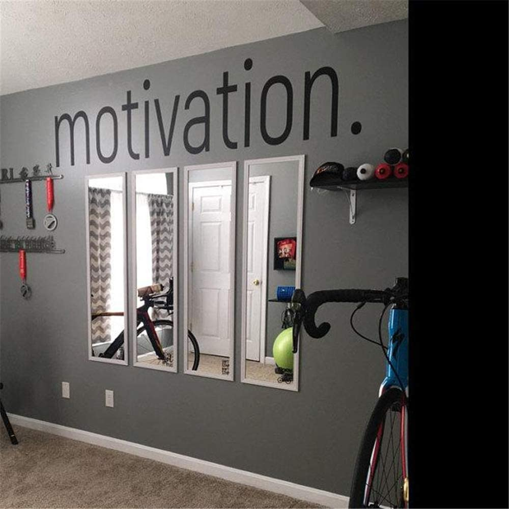 Motivation Wall Sticker - Gym Fitness Wall Decals - Sport Poster Workout Inspirational Art Decor Mural 8 X 50.3 inches