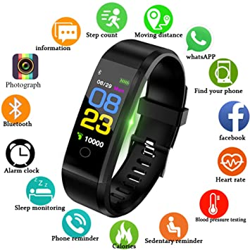 LIGE Fitness Trackers,Pantalla táctil a Color Rastreador de ...