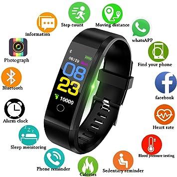 LIGE Fitness Trackers,Pantalla táctil a Color Rastreador de Actividad con Monitor de Ritmo cardíaco