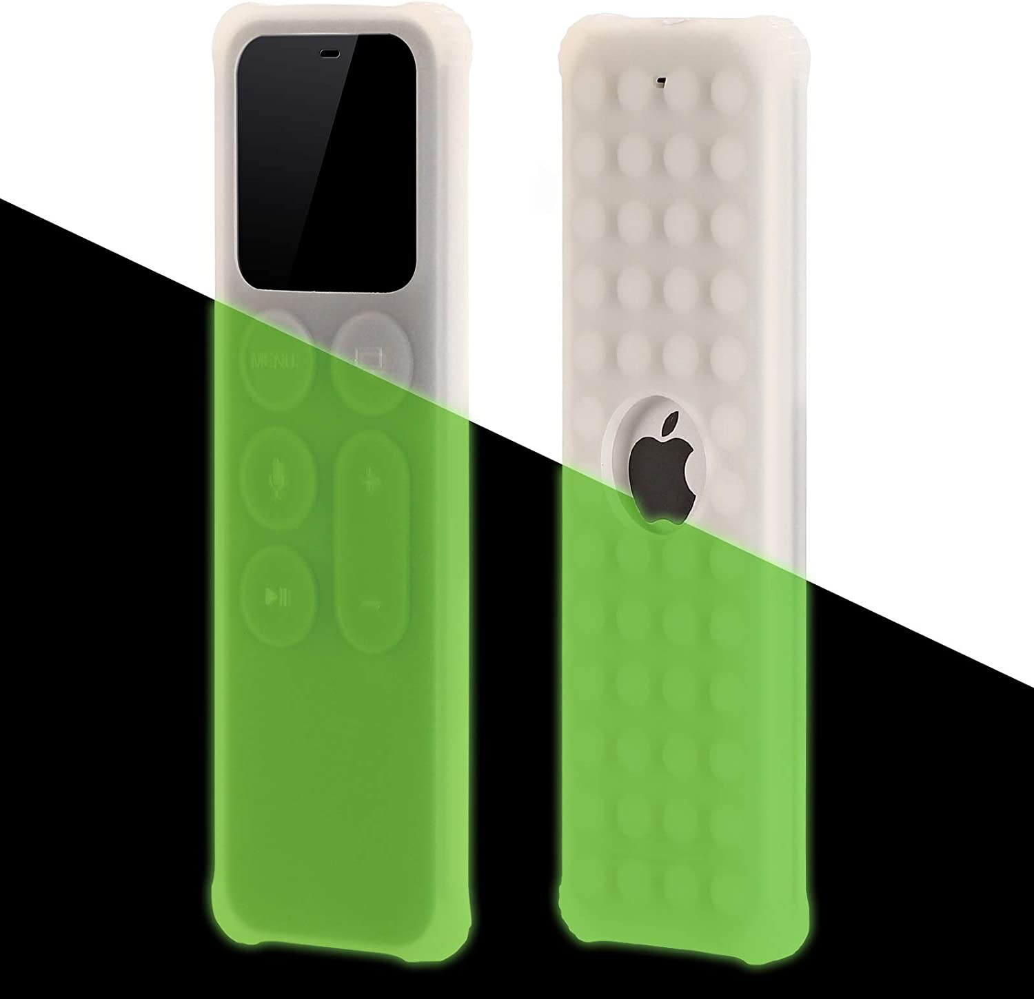 BUJIDAO Protective Case for Apple TV Siri 4K 5th / 4th Gen Remote, Protective Silicone Remote Cover for Apple TV Siri Remote Controller Lightweight Anti Slip Shock Proof (Glow Green)