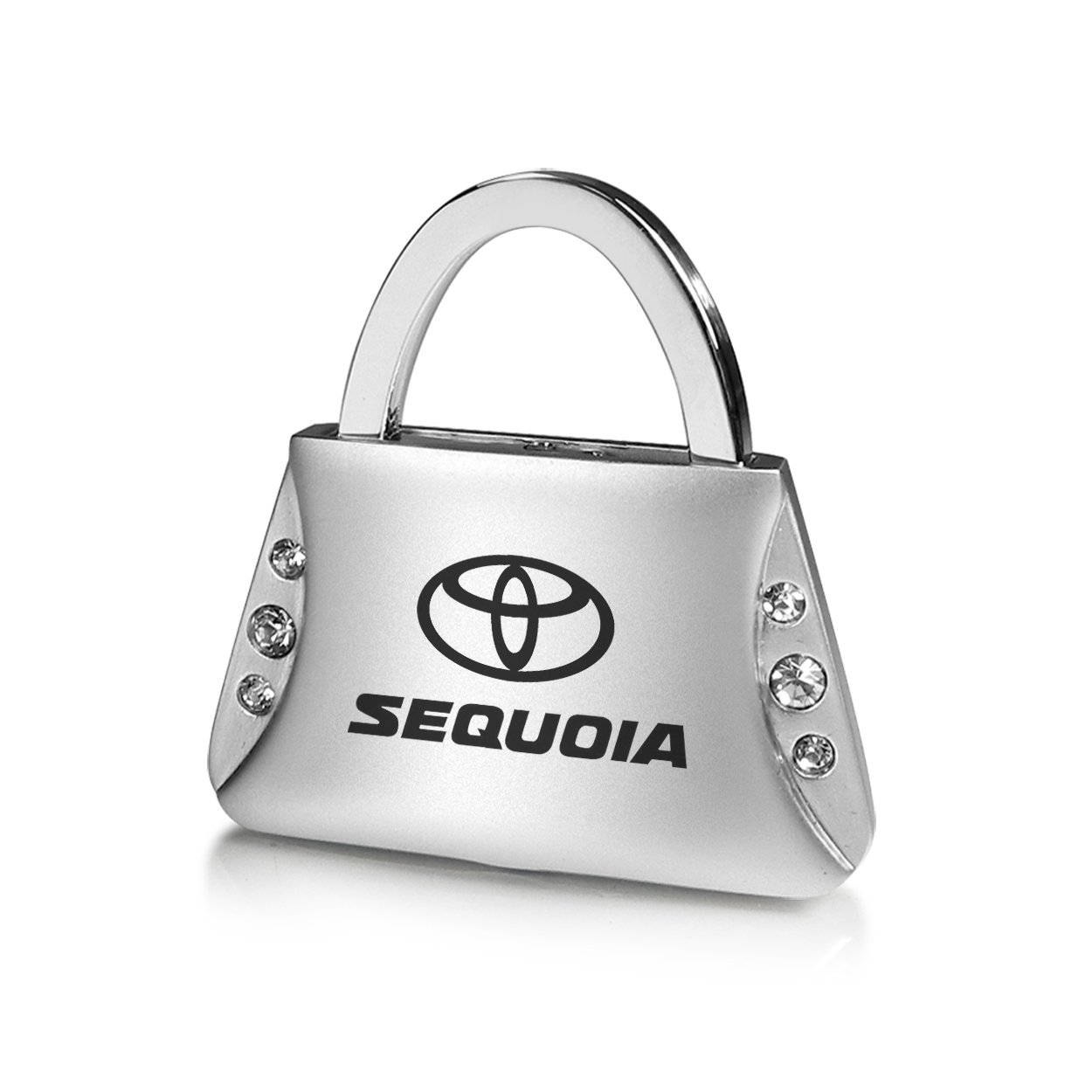 Toyota Sequoia Clear Crystals Purse Shape Key Chain