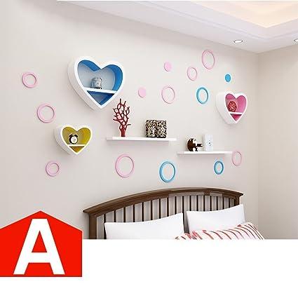 Amazon Com Homee Heart Shaped Wall Shelves Creative Lattice