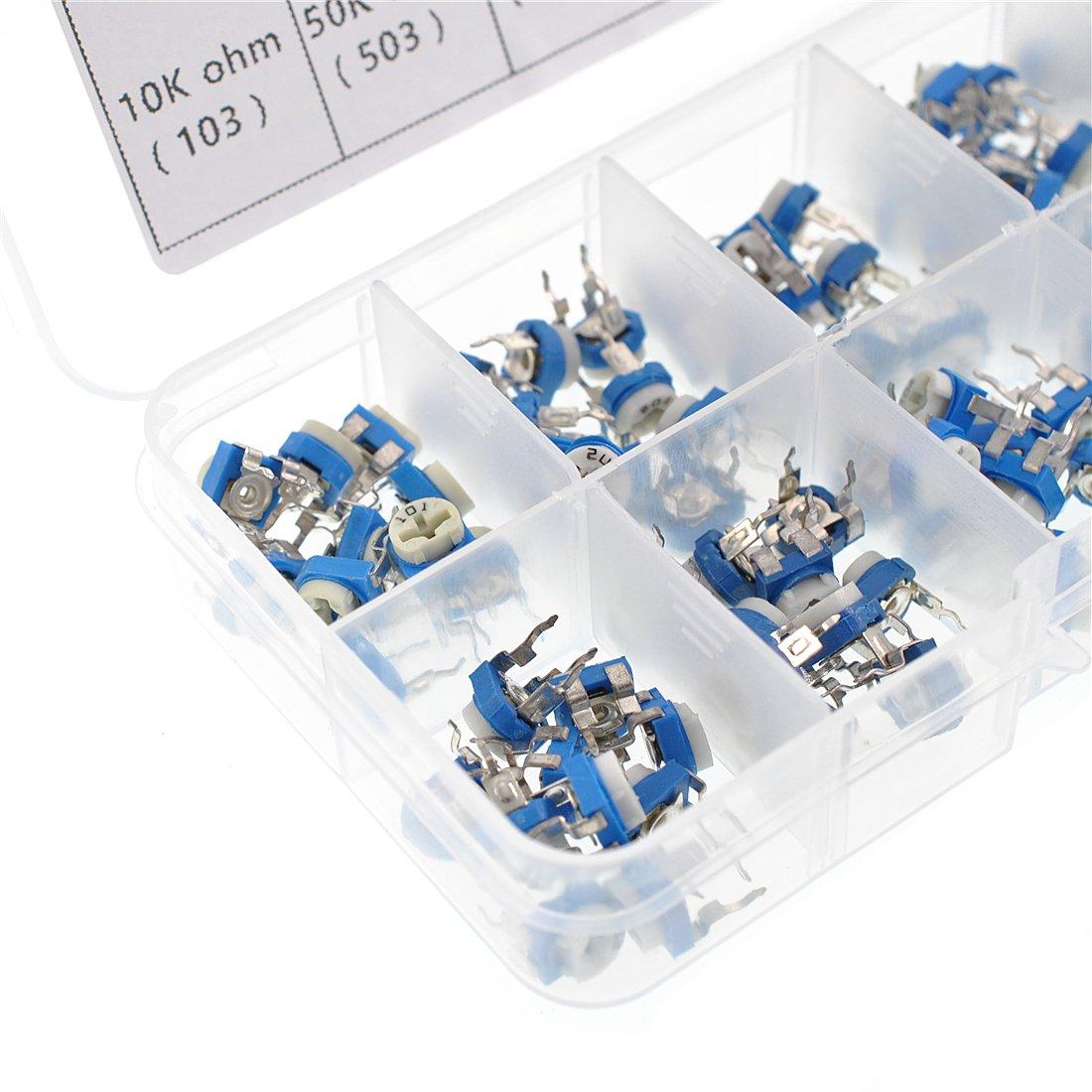 Oiyagai 10 Value 100pcs Variable Resistor Assorted Kit