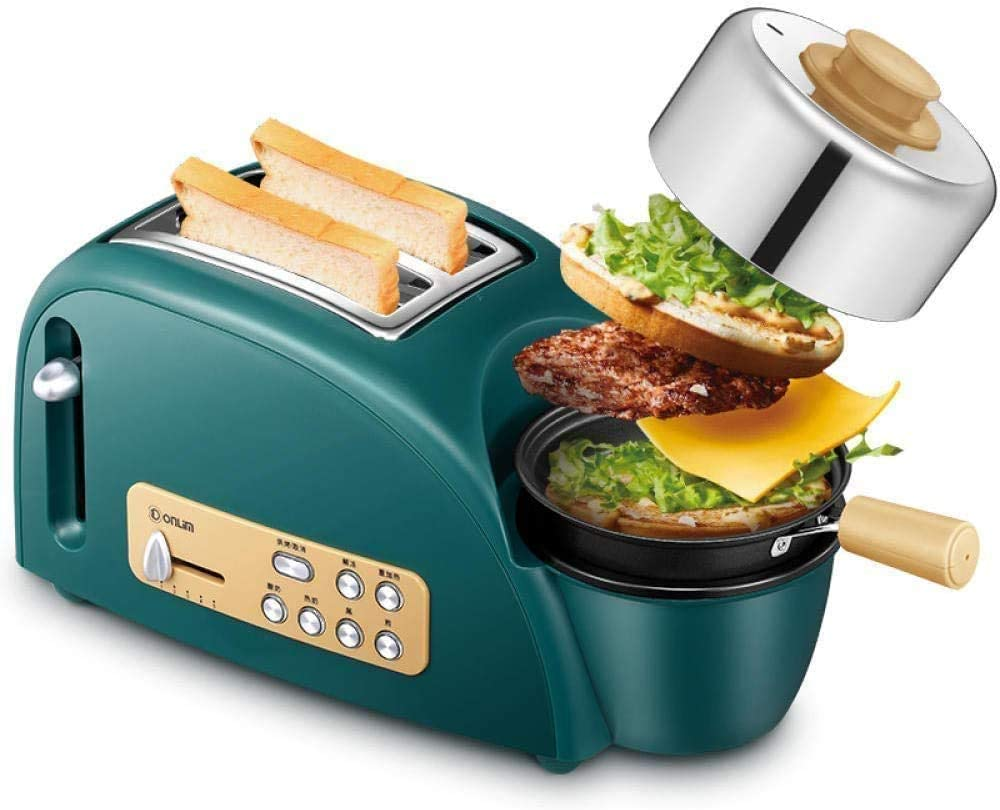 PUBUBU Breadmakers, Toaster Multi-Function Toaster Driver Home-Roasted Omelette Toast Machine