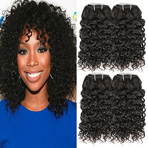 Urbeauty Brazilian Kinky Curly Hair 4 Bundles Human Hair