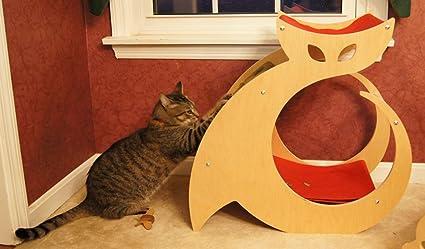 modern scratching post perch and cat hammock with cat nip amazon     modern scratching post perch and cat hammock with      rh   amazon