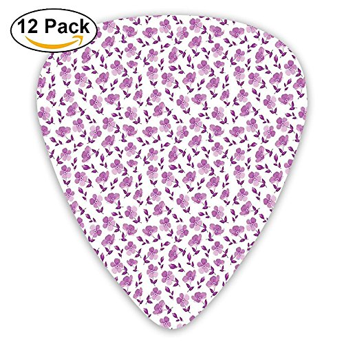 Newfood Ss Floral Pattern Romantic Decorating Valentines Day Wedding Anniversary Art Guitar Picks 12/Pack Set (Day Valentine Decorating For)