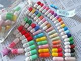 50 Pcs Message in a Bottle Capsule Letter Cute Love Friendship Color Pill Gift(sends randomly)