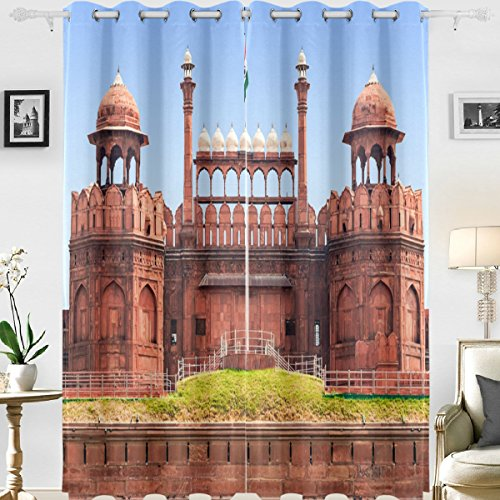 Cheap  Naanle Building Decor 3d Print Famous Red Fort Western Architecture Photo Image..