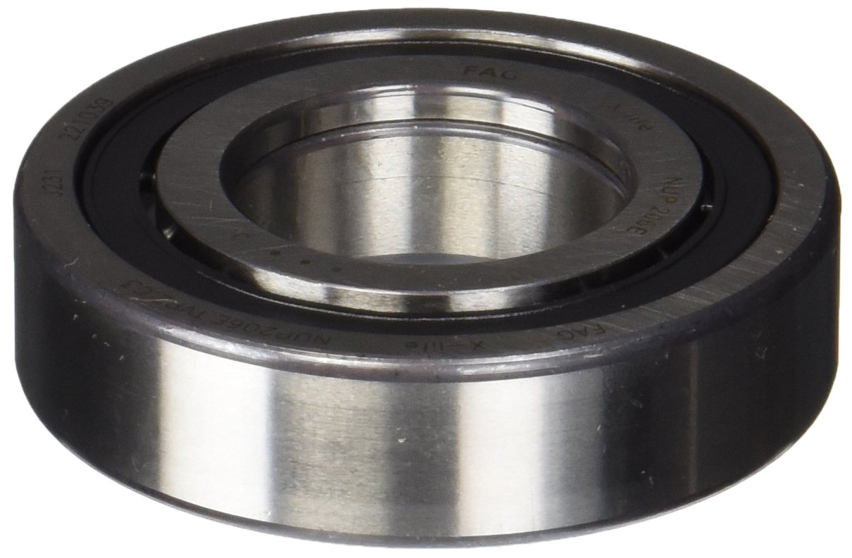 Straight Bore 16mm Width C3 Clearance Single Row Metric FAG NUP206E-TVP2-C3 Cylindrical Roller Bearing 30mm ID Removable Inner Ring 62mm OD High Capacity Two Piece
