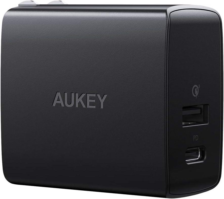 AUKEY 墙插, 双接口18W PD/QC快充版,现价$6.99(原价$19.99)