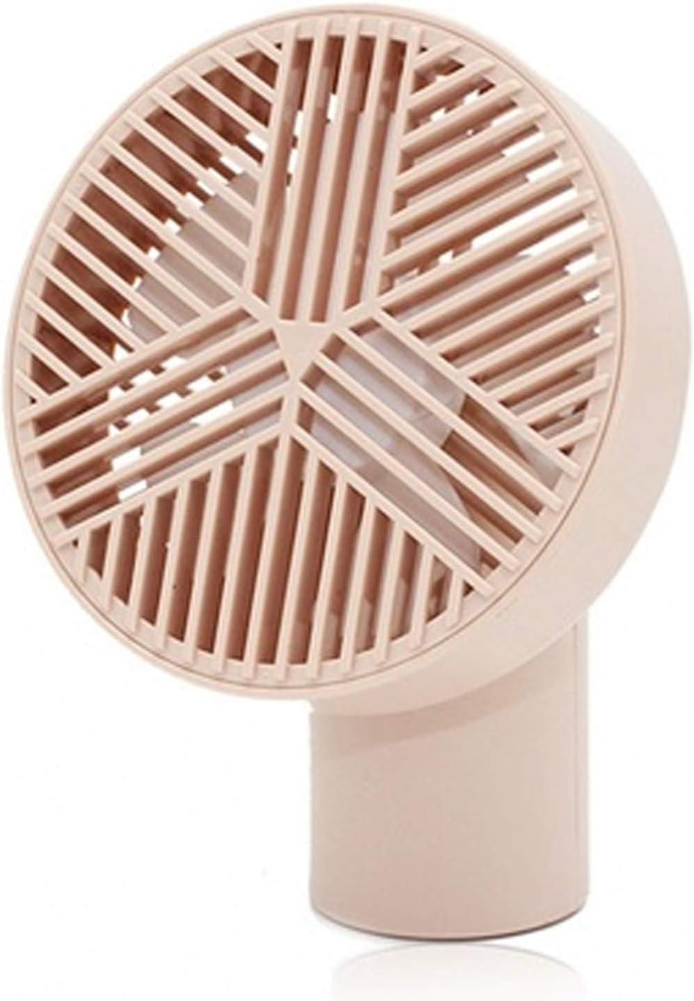 Color : Pink Air Cooler Mini USB Fan Summer Handheld Personal Fan Portable Pocket Fan Mute Short Handle Desktop Small Fan