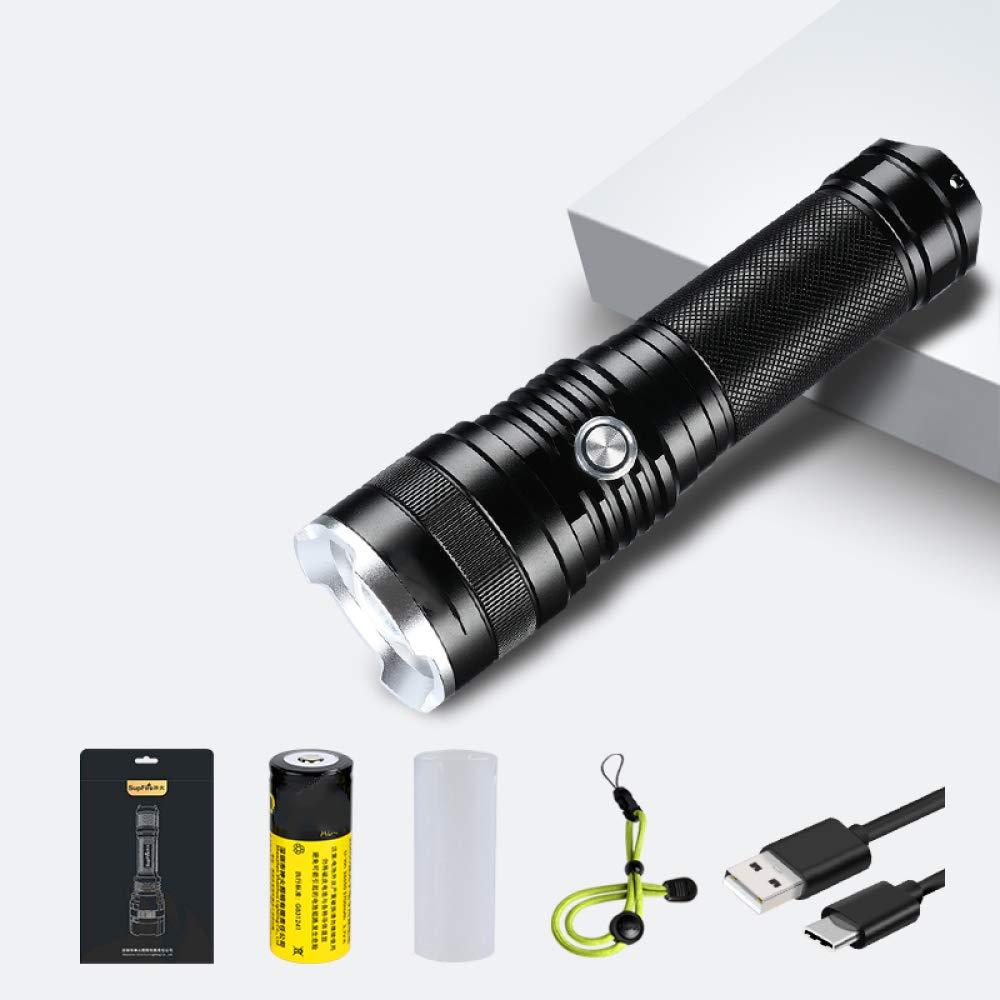 XM Tragbare Taschenlampe, Taschenlampe, Wiederaufladbare Xenon-Taschenlampe, Wasserdichtes Licht, Multi-Funktions-Taschenlampe