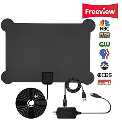 HDTV Antenna, Indoor Amplified TV Antenna 50 Mile Range with Creative Adjustable Amplifier Detachable Booster