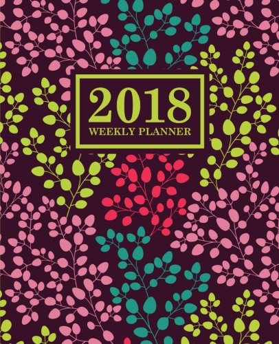 Download Weekly Planner: 2018 Weekly Planner: Portable Format: Trendy Coral, Teal, Pink & Yellow Floral pdf